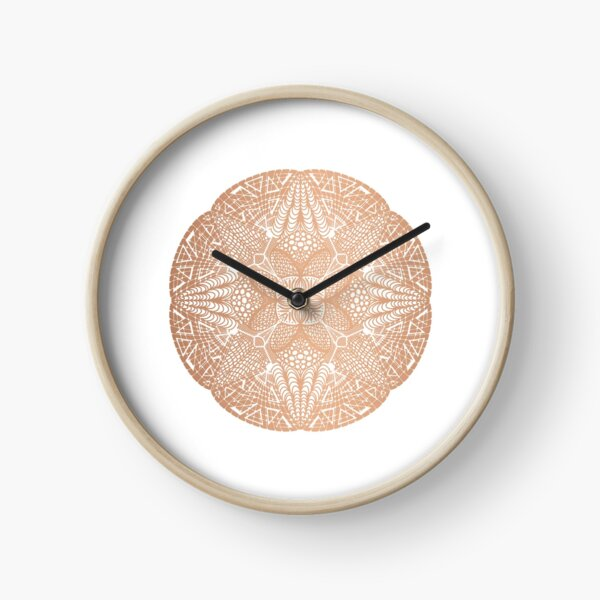 Copper Mandala Clock