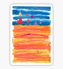Sailing on a Sizzling Summer's Day Sticker