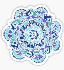 Royal Blue, Teal, Mint & Purple Mandala Flower Sticker