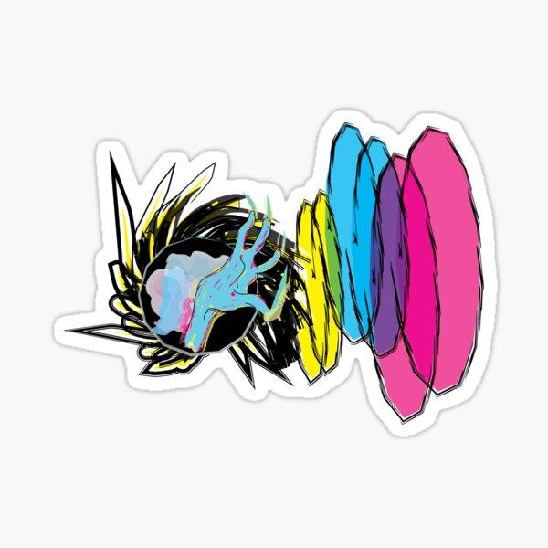 attack spell in cmyk - episode 11 Sticker