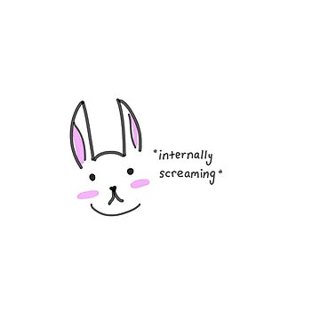 Bunny Sticker by TinyTulsi