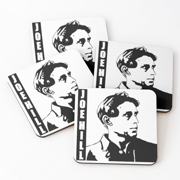 Joe Hill -- Industrial Workers of the World IWW Coasters (Set of 4)