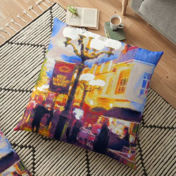 In the streets of Paris Las Vegas - Painting Floor Pillow