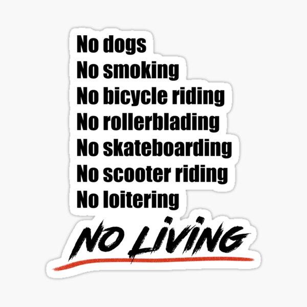 No living - Version 2 in Black Sticker