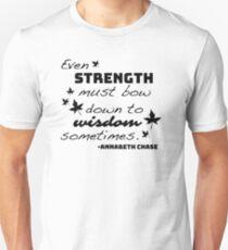 Camiseta unisex Fuerza debe inclinarse ante la sabiduría - Annabeth Chase