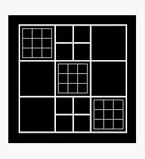 Squared Square Carrés Geometric design Photographic Print