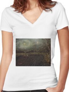 Guardian of Night Women's Fitted V-Neck T-Shirt