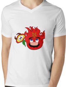satan mario flower power Mens V-Neck T-Shirt
