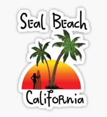 Seal Beach California Sticker