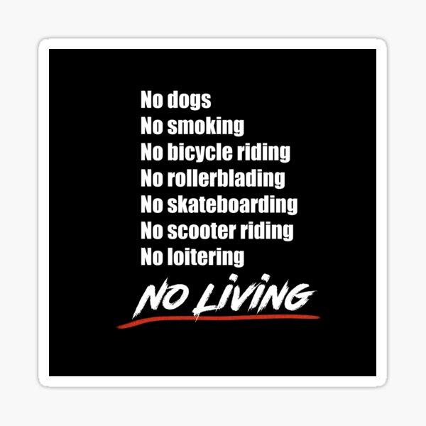 No living - Version 2 in White Sticker