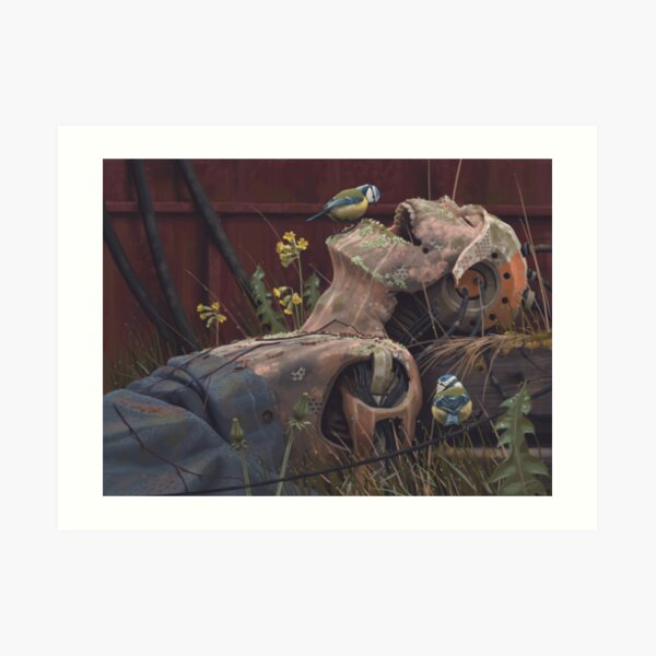 On the activities of primates and passerines Art Print