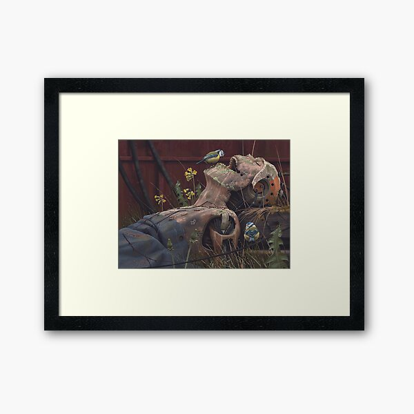 On the activities of primates and passerines Framed Art Print
