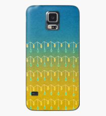 Droplets, Blue and Yellow Case/Skin for Samsung Galaxy