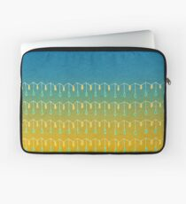 Droplets, Blue and Yellow Laptop Sleeve