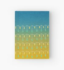 Droplets, Blue and Yellow Hardcover Journal