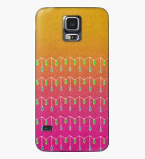 Droplets, Orange and Pink Case/Skin for Samsung Galaxy