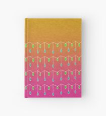 Droplets, Orange and Pink Hardcover Journal