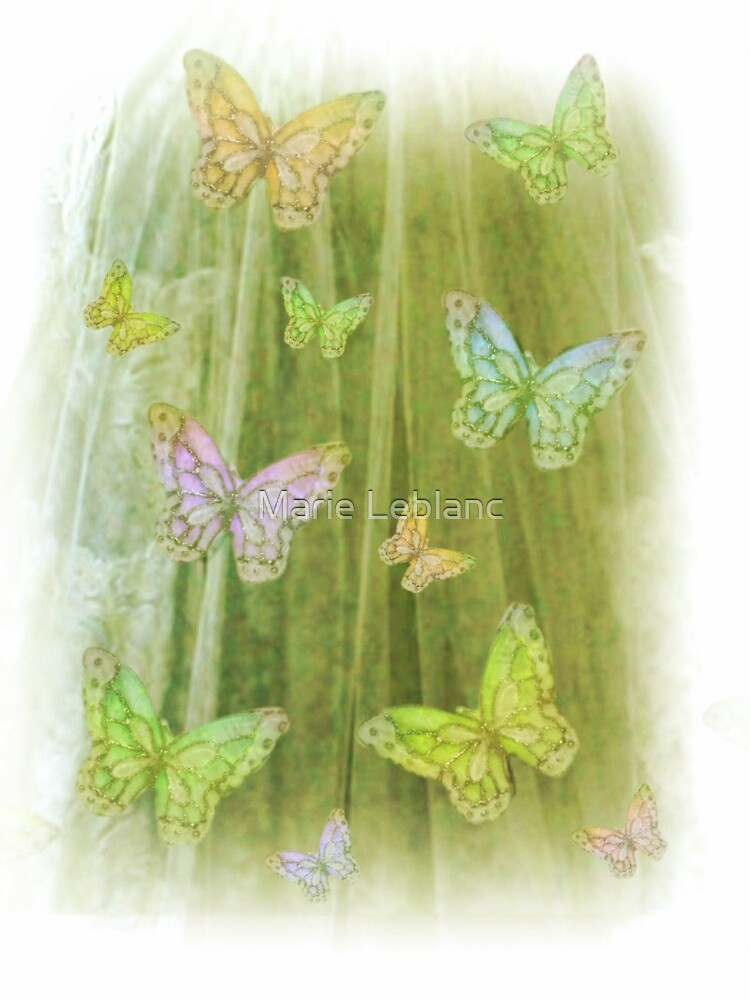 BUTTERFLIES HAVING A GOOD TIME by Marie Leblanc