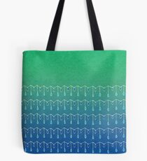 Droplets, Green and Blue Tote Bag