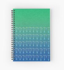 Droplets, Green and Blue Spiral Notebook