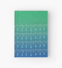 Droplets, Green and Blue Hardcover Journal