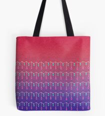Droplets, Pink and Purple Tote Bag