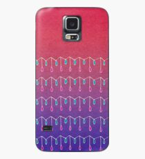 Droplets, Pink and Purple Case/Skin for Samsung Galaxy
