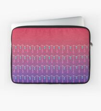 Droplets, Pink and Purple Laptop Sleeve