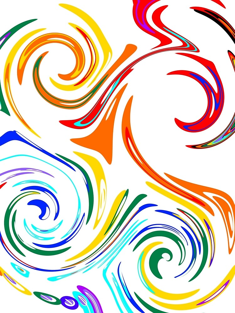 Colorful Twists and Turns by SweetlandArts