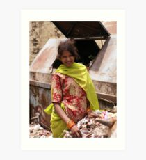 Pleased to have an income, Udaipur, India Art Print