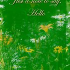 Hi Hello Greeting Card -  Wildflower Garden Also without text on some items by MotherNature