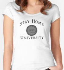 Stay Home University Women's Fitted Scoop T-Shirt