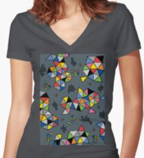 Edgewise grey Women's Fitted V-Neck T-Shirt