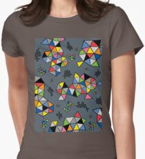Edgewise grey Womens Fitted T-Shirt