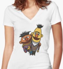 Bert And Ernie Women's Fitted V-Neck T-Shirt