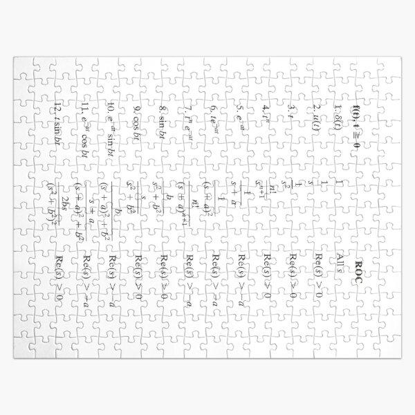 Laplace Transform, Math, Mathematics, Physics, #Laplace, #Transform, #Math, #Mathematics, #Physics, #LaplaceTransform Jigsaw Puzzle