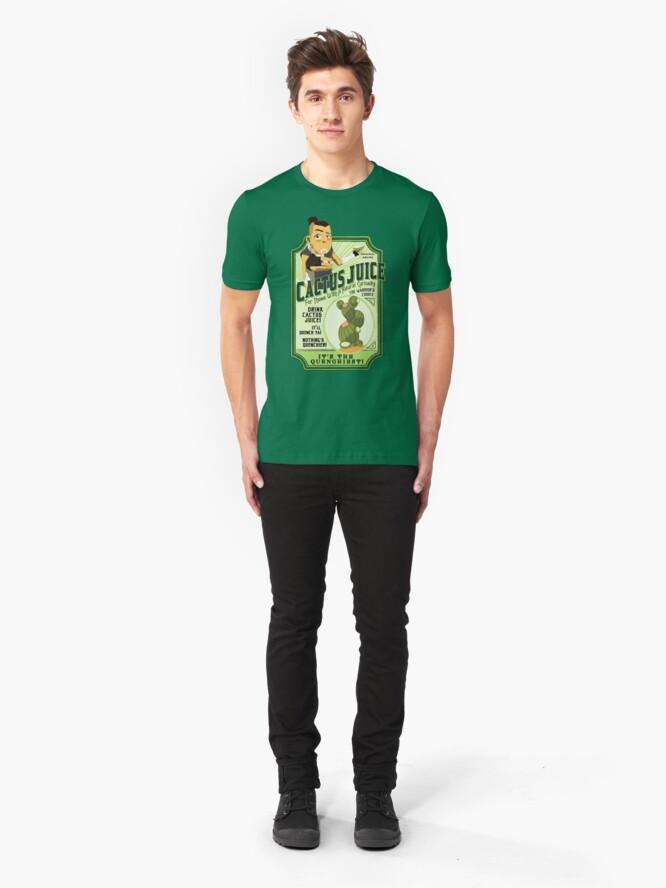 Alternate view of Drink Cactus Juice Slim Fit T-Shirt