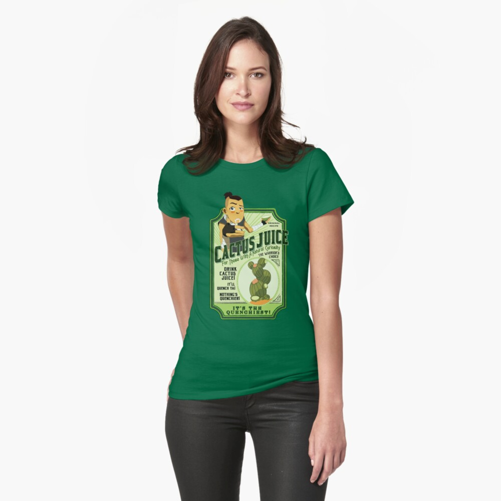Drink Cactus Juice Fitted T-Shirt