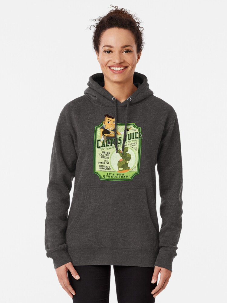 Alternate view of Drink Cactus Juice Pullover Hoodie