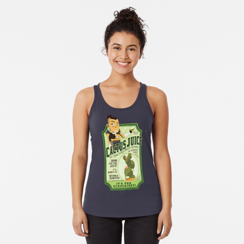 Drink Cactus Juice Racerback Tank Top