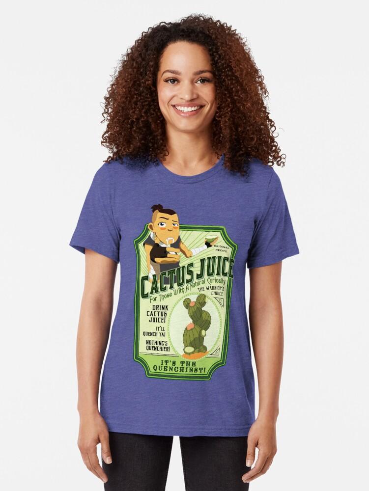 Alternate view of Drink Cactus Juice Tri-blend T-Shirt