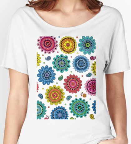 Flowers of Desire white Women's Relaxed Fit T-Shirt