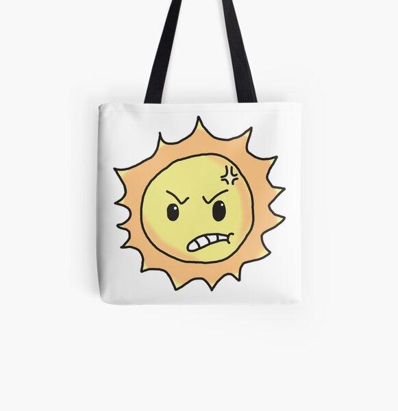 angry sun All Over Print Tote Bag
