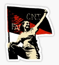 Anarchy Flag Woman - for bright backgrounds Sticker