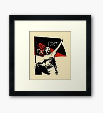 Anarchy Flag Woman - for bright backgrounds Framed Art Print
