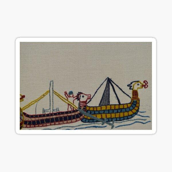 Viking ships arriving Sticker