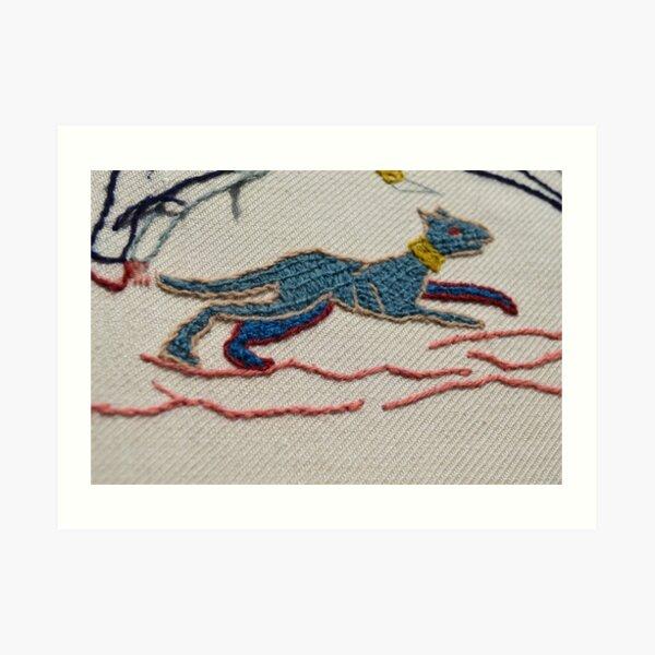 Running hound Art Print