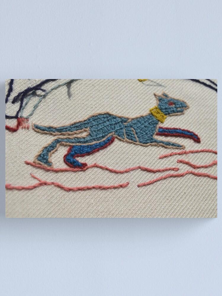 Alternate view of Running hound Canvas Print