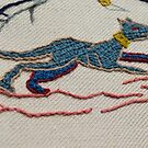 Running hound by Stamford Bridge Tapestry Project