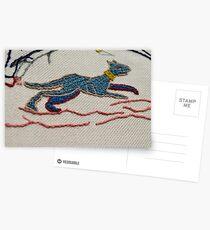 Running hound Postcards